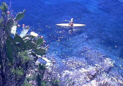 Pietre Preziose Isola d' Elba in kayak
